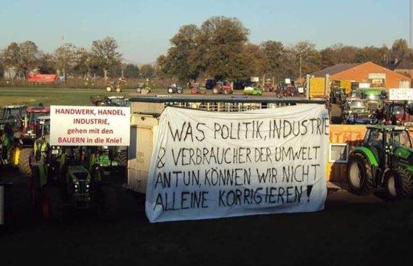 Bauernprotest in Kalkar