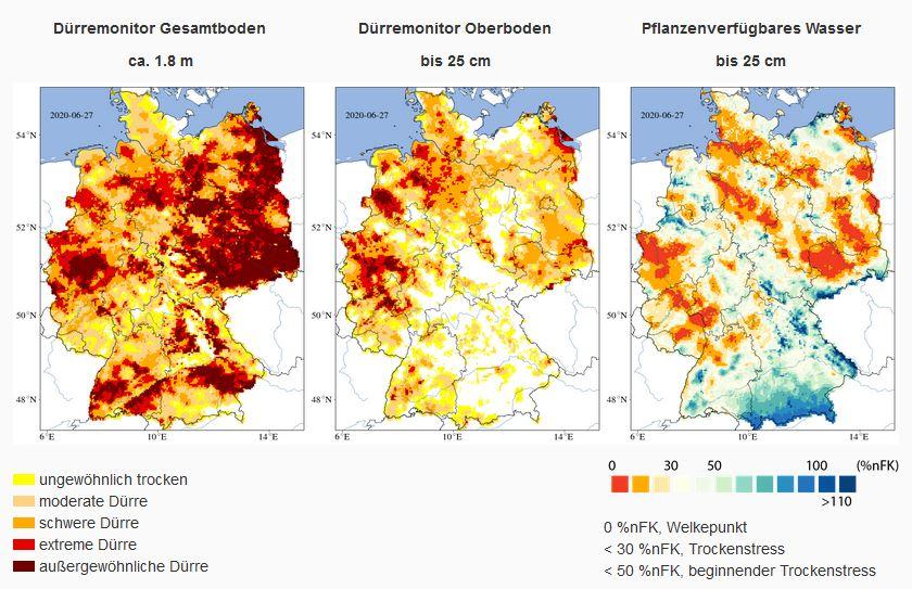 grundwasserspiegel deutschland karte Dritte Jahr in Folge Wasserknappheit in Deutschland! | top agrar